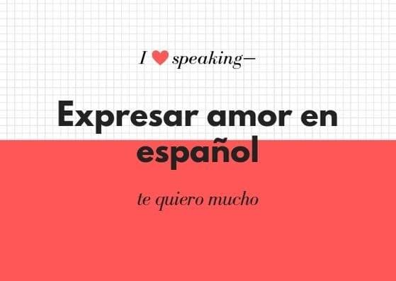 vocabulario de amor en español