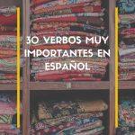 verbos importantes en español