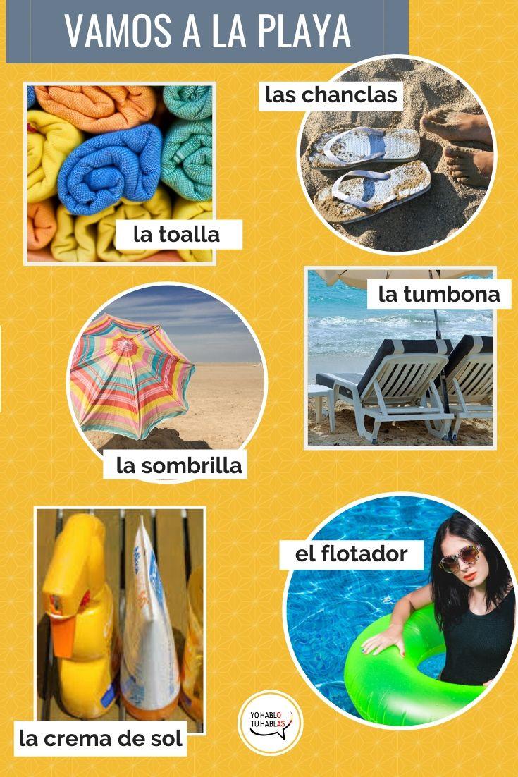 vocabulario playa