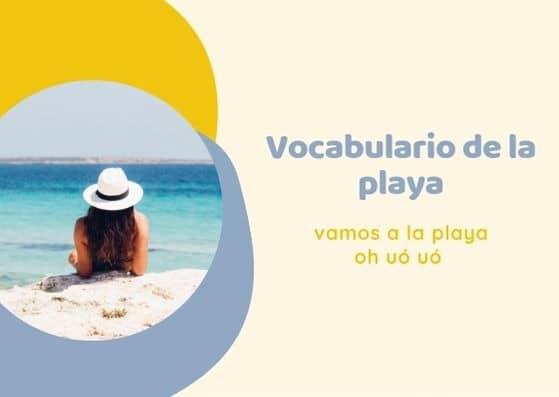 Vocabulario de la playa