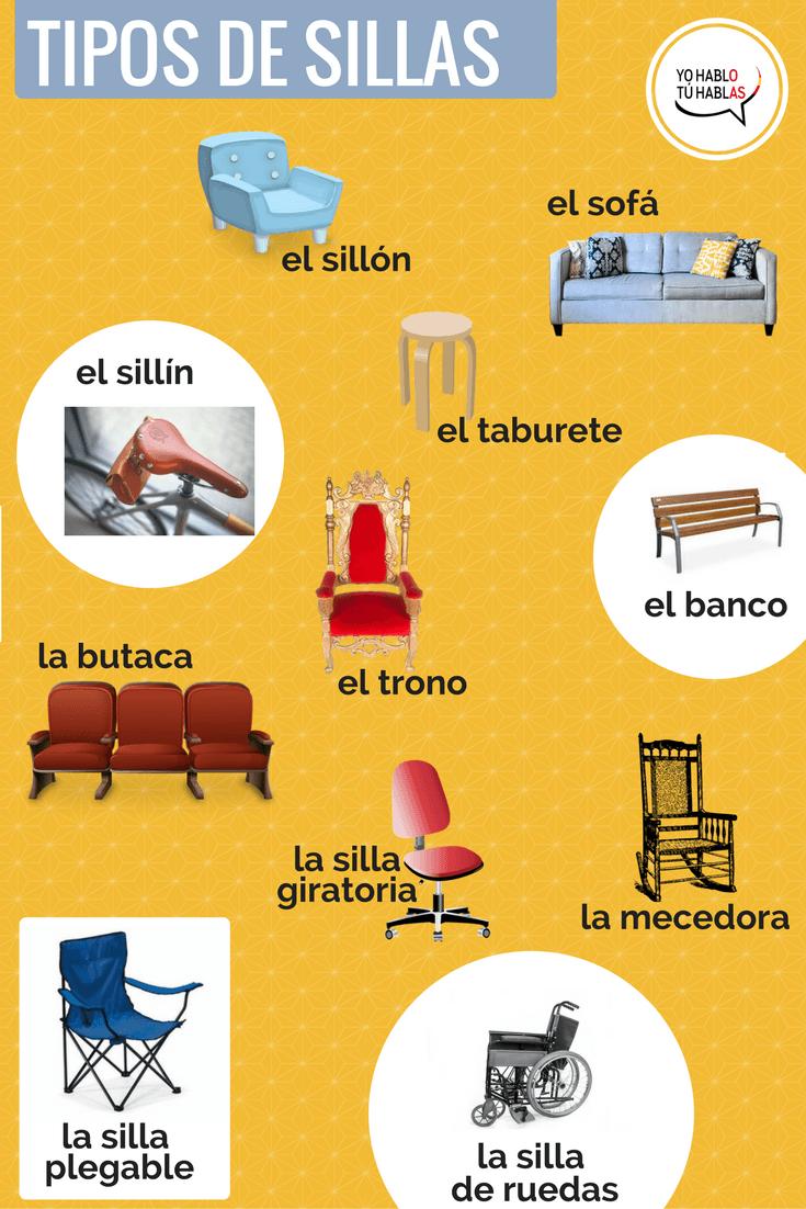 tipos de sillas