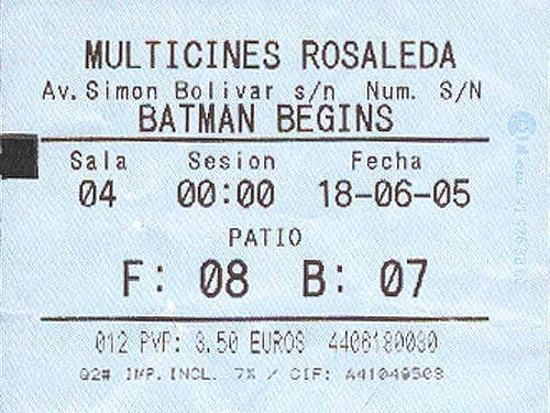 billete ticket entrada foto