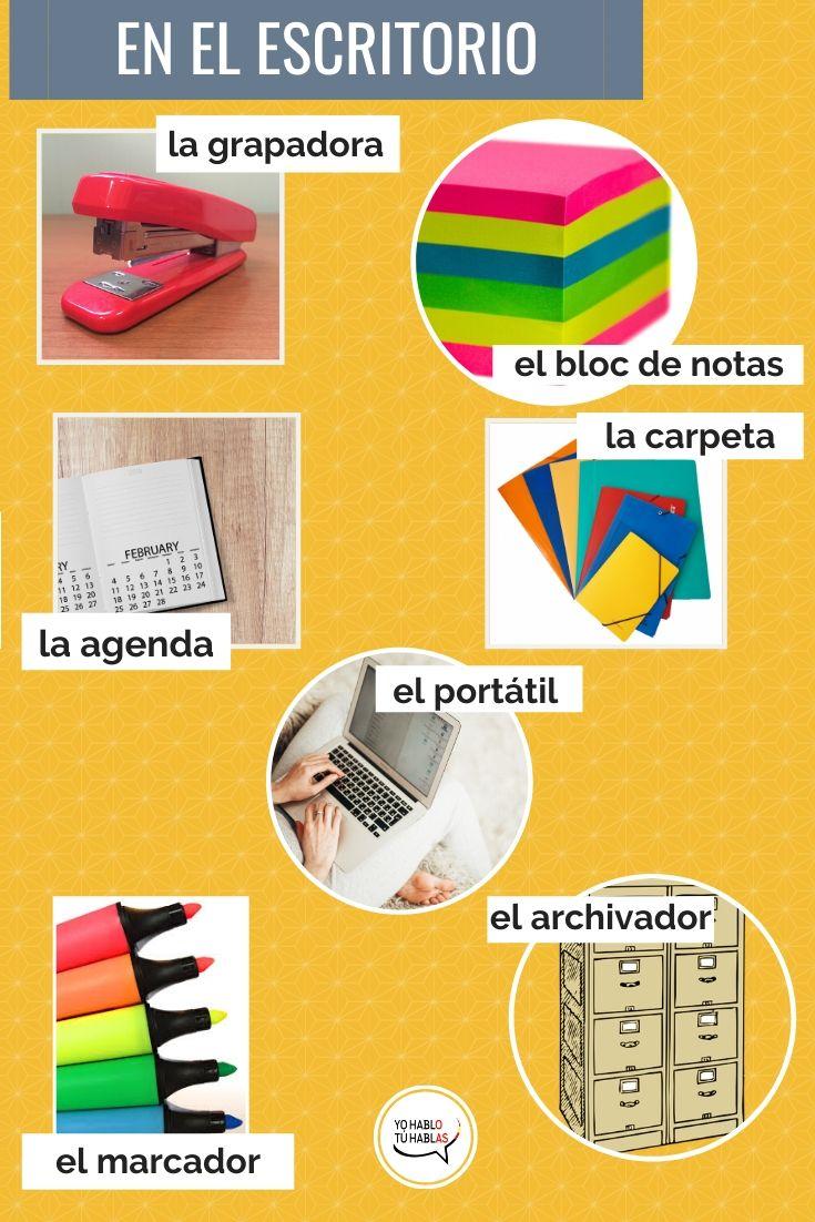 vocabulario escritorio