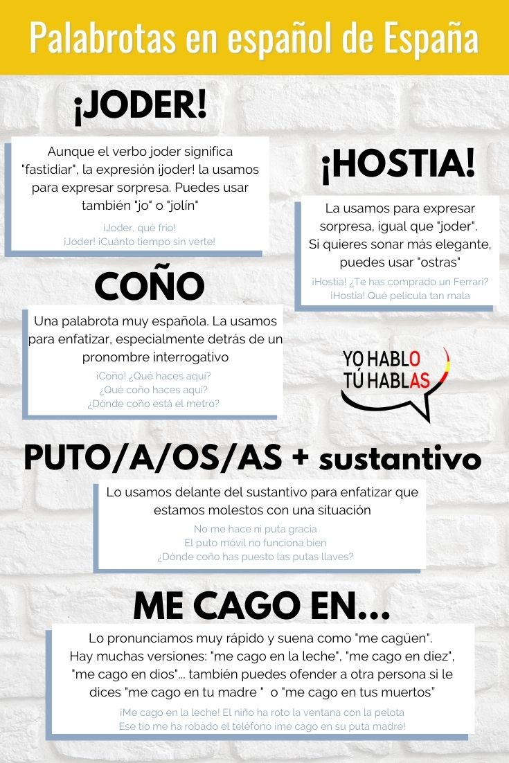 palabrotas en español