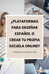 Plataformas para enseñar español o una web
