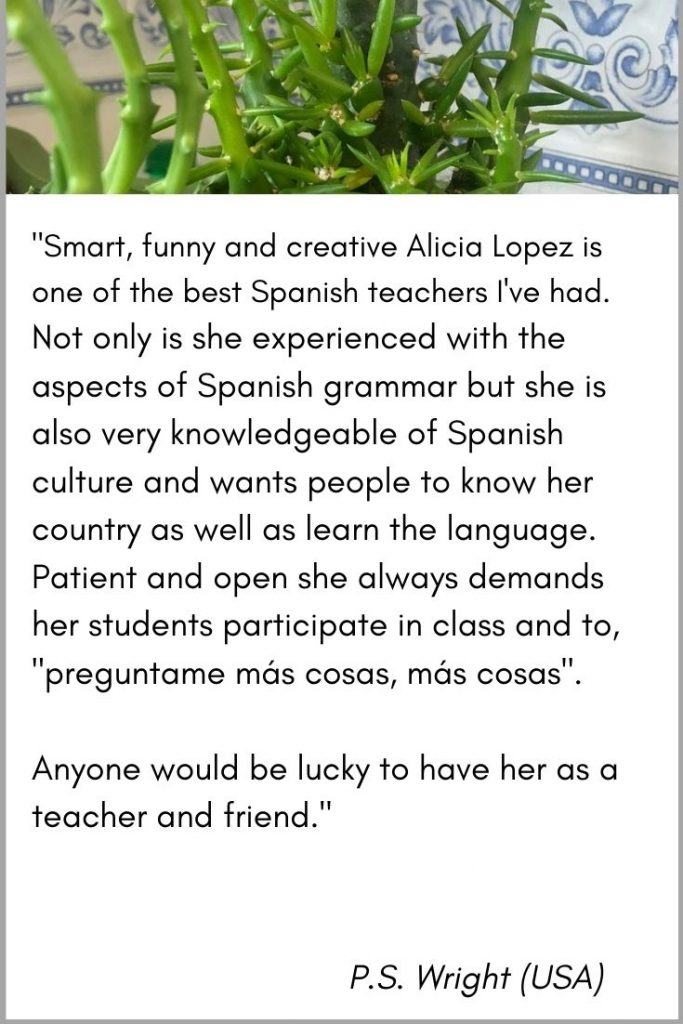 personalized online spanish lessons testimonial 2